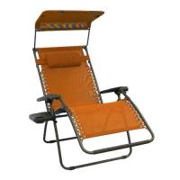 Bliss Hammocks Gravity Free Chair X-Wide With Sun-shade and Cup tray - Terra Cotta