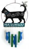Blue HandWorks Kittie Meow Wind Chime