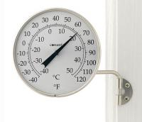 Conant Custom Brass Dial Thermometer Satin Nickel Finish