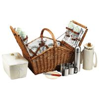 Picnic at Ascot Huntsman Huntsman Basket for 4 w/coffee service -Gazebo