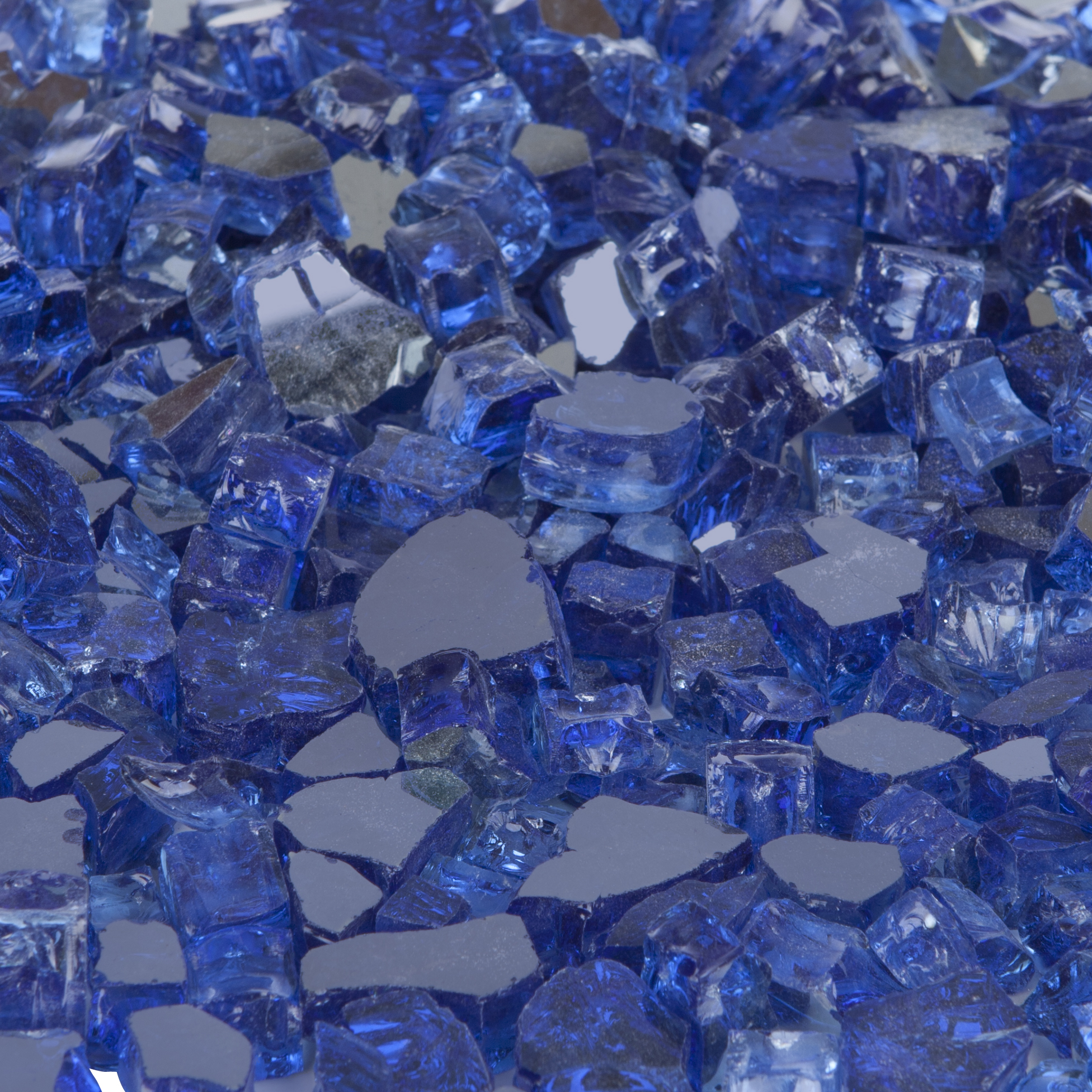 Well Traveled Living Sapphire Blue Reflective Fire Glass
