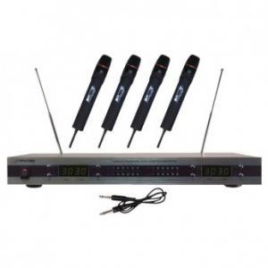 Pyle-Pro PDWM5500 4 Mic VHF Wireless Microphone System
