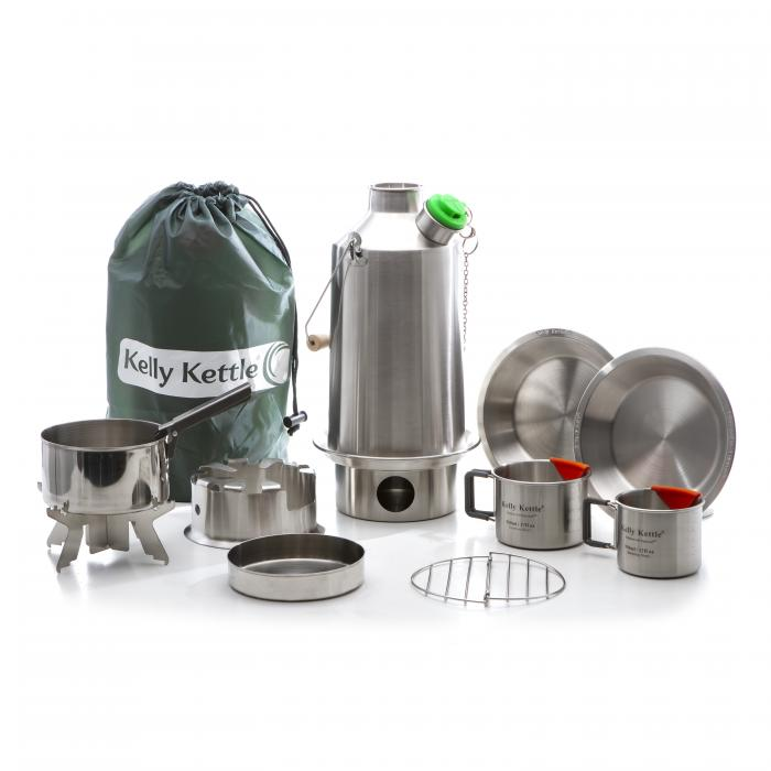 Kelly Kettle Ultimate Base Camp Kit - Stainless Steel Camp Kettle