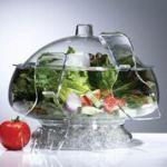 Prodyne Salad On Ice Acrylic With Dome Lid Crystal - Clear