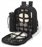 Picnic at Ascot - Deluxe Equipped 2 Person Picnic Backpack with Cooler & Insulated Wine Holder - London Plaid