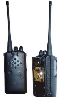 Armor Case Genuine Leather Carry Case for Blackbox Radio U/V