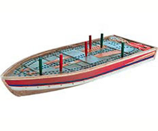 Outside-Inside Tin Boat Cribbage Board