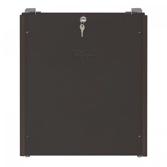 PlexiDor Performance Pet Doors Large Sliding Track Security Plate, Bronze