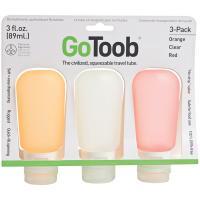 Human Gear Gotoob 3 Oz 3 Pack - Clear/Orange/Red