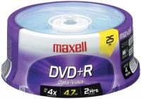 Maxell 634050/639011 4.7 GB DVD+R, 25-Count Spindle