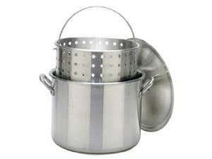 Bayou Classic 120 Quart Stockpot with Lid and Basket