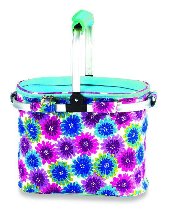 Picnic Plus Shelby Collapsible Market Cooler Tote - Blue Blossom