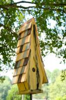 Heartwood High Cotton Bird House, Limey Yellow