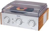 Jensen JTA-220 Stereo 3-Speed Turntable with AM/FM Receiver and 2 Built-In Speakers