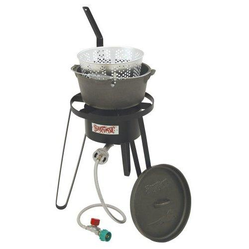 Bayou Classic Outdoor Fish Cooker with Cast Iron Fry Pot
