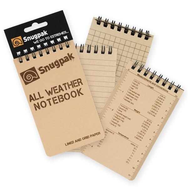 Snugpak - All Weather Notebooks - Sm - Tan