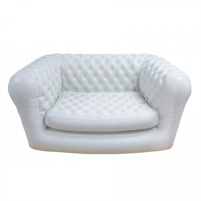 Smart Air Beds ChestAIRfield 2 Person Deluxe Edition Inflatable Chesterfield Sofa - White (SUMO000025K2WDX)