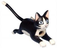 Bobbo Cat Black/White Jumping Birdhouse