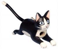 Bobbo Cat Black/White Jumping Birdhouse