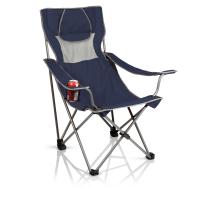 Picnic Time Campsite Folding Camp Chair - Navy/Grey