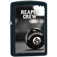 Zippo Black Matte, Reaper Crew/Sons of Anarchy Logo with 8 Ball