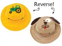 Luvali Convertibles Tractor/Dog Reversible Kids' Hat Small