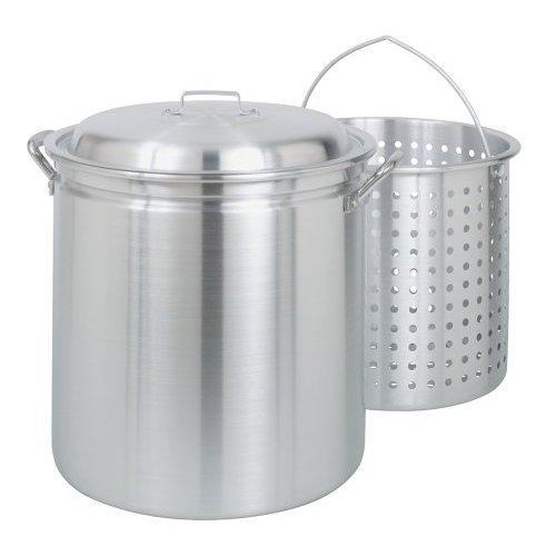 Bayou Classic 60-qt Aluminum Stockpot with Basket