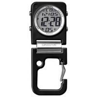 Dakota Digiclip Square Clip Clock, BlackCase w/Black Aluminum Carabiner