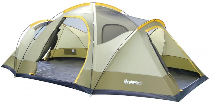 Gigatent Wolf Mountain 3-Room Family Dome Tent