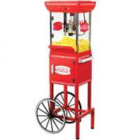 "Nostalgia Electrics Coca-Cola Series CCP399COKE 48"" Old Fashioned Movie Time Popcorn Cart"