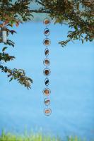 Ancient Graffiti Circles Flamed Hanging Ornament