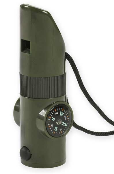 NDuR 7-In-1 Survival Whistle, Olive