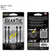 "Nite-ize Gear Tie 3"" 4 Pack - Black"