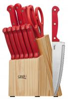 Ginsu Essential Series 14 Piece Cutlery Set, Red