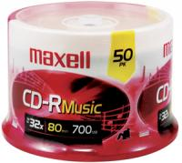 Maxell 625156 - CDR80MU50PK Music CD-R (50-ct spindle)