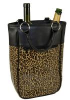 Primeware Harmony Two Bottle Wine Tote - Leopard