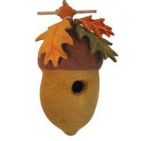 DZI Handmade Designs Pin Oak Acorn Felt Birdhouse