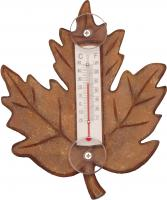 Songbird Essentials Stained Maple Leaf Small Window Thermometer
