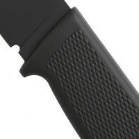 Fallkniven F1BL Black Swedish Pilot Fixed Blade Survival Knife, Leather Sheath