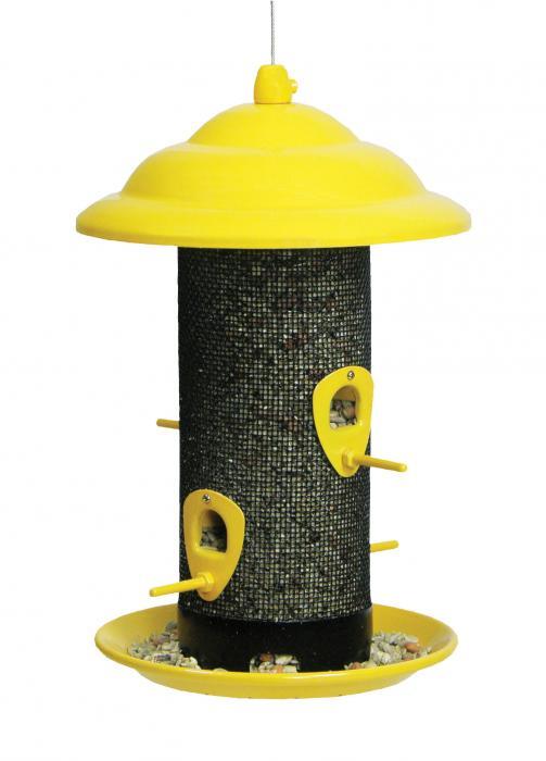 Hiatt Manufacturing Yellow Sedona Screen Bird Feeder