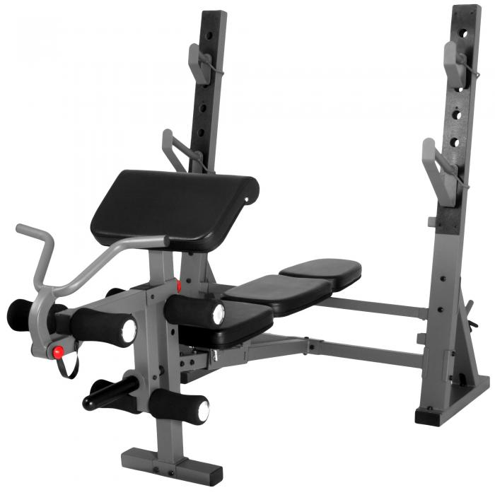 XMark International Olympic Weight Bench with Leg and Preacher Curl Attachment XM-4424