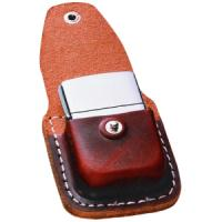 Zippo Leather Lighter Pouch w/Clip, Brown