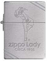 Zippo 1935 Replica w/ Slashes-Zippo Lady Circa 1935