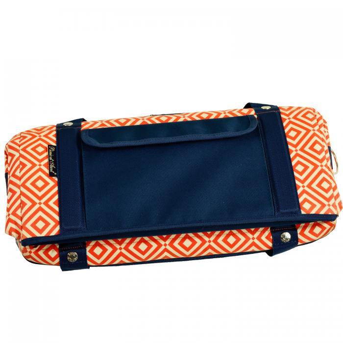 Picnic at Ascot Hybrid Semi-Rigid Folding Cooler- Diamond Orange