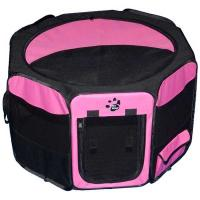 "Pet Gear Travel Lite Soft-Sided Pet Pen with Removable Top Pink 36"" x 36"" x 23"""