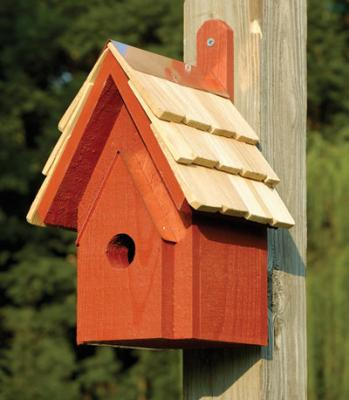 Heartwood Classic Birdhouse, Redwood