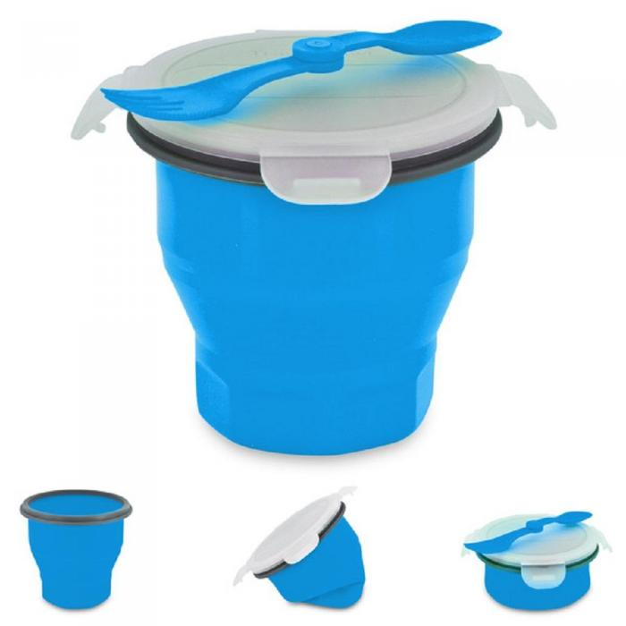 Smart Planet Blue Collapsible Soup And Salad Bowl