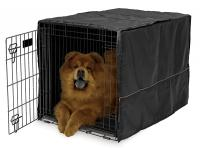 Mid-West Quiet Time Black Pet Crate Cover, 36""