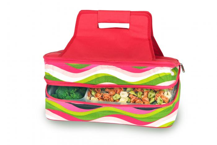 Picnic Plus Entertainer Hot & Cold Food Carrier - Wavy Watermelon