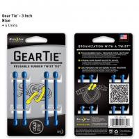 "Nite-ize Gear Tie 3"" 4 pack - Blue"